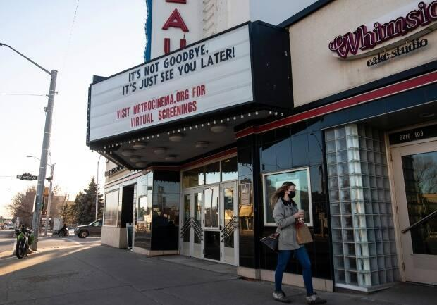 Metro Cinema will ask movie goers to show proof they've been fully vaccinated or a recent negative COVID-19 test, starting Sept. 20.  (Jason Franson/The Canadian Press - image credit)