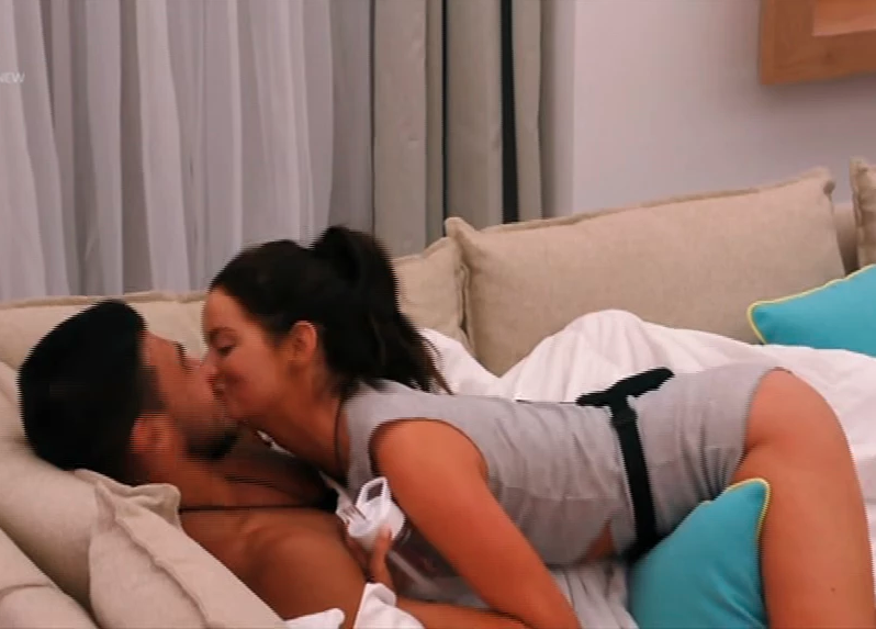 Tommy tried to dodge Maura's advances and he ended up kissing him on the cheek. Photo: Love Island/ITV