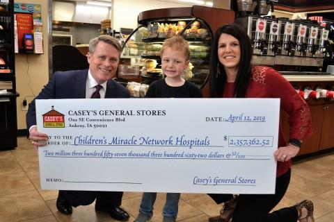 Casey's Customer Donations Exceed Expectations