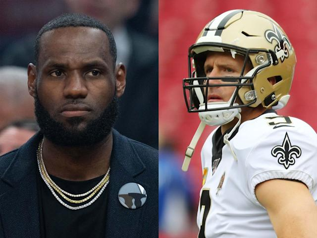 LeBron James was quick to call out Saints quarterback Drew Brees after he said that he was still against players kneeling during the national anthem.