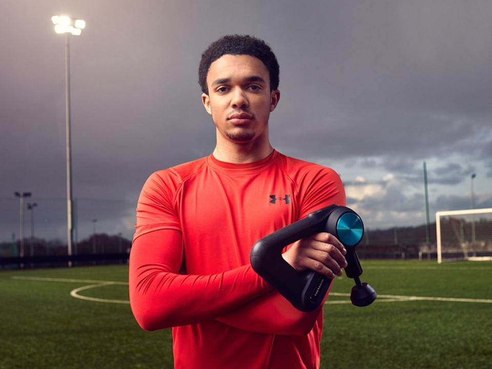 <p>We reviewed two versions of the percussive massager that's loved by the Premier League player</p> (Therabody)