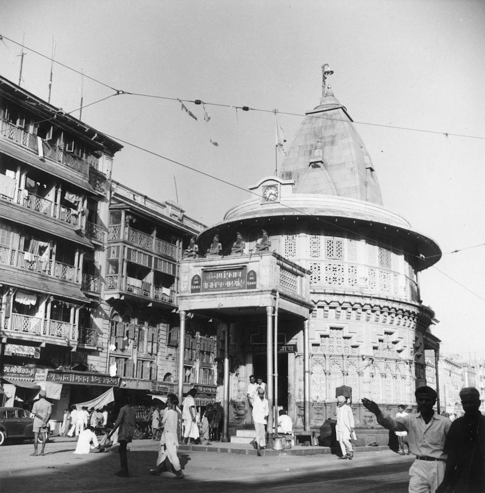 circa 1955: The Round Temple, an ornate building in the old quarter of Bombay. (Photo by Three Lions/Getty Images)