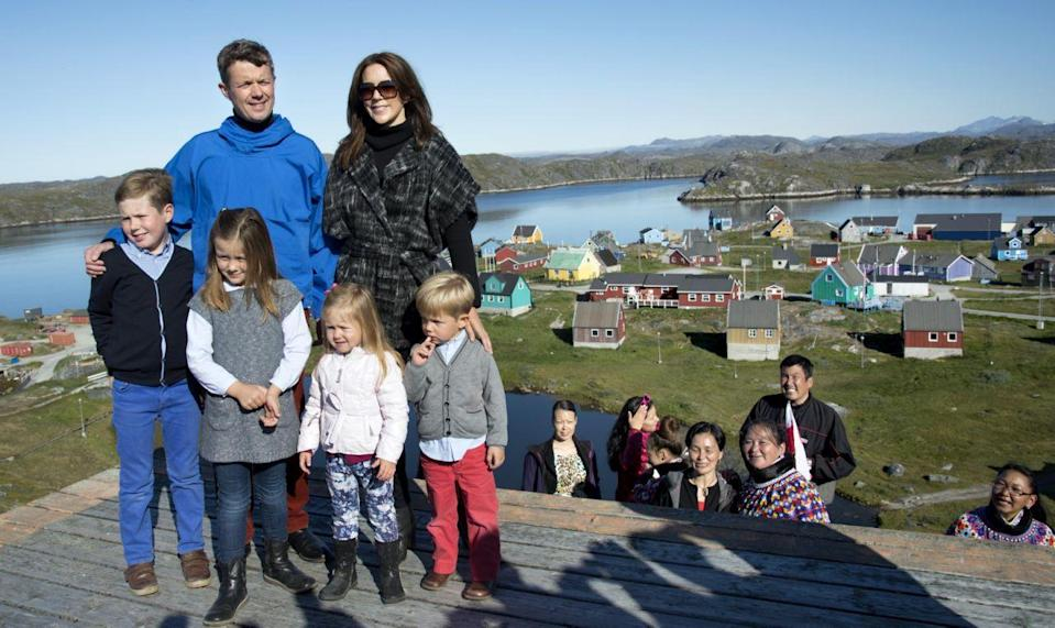 <p>August 2014: The royal family visit to Greenland, an autonomous territory within the Kingdom of Denmark. Photo: Getty</p>