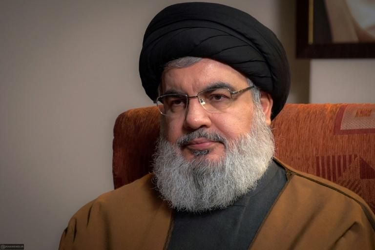 Hezbollah leader Hassan Nasrallah has acknowledged the criticism in recent days telling protesters: 'Curse me I don't mind' (AFP Photo/-)