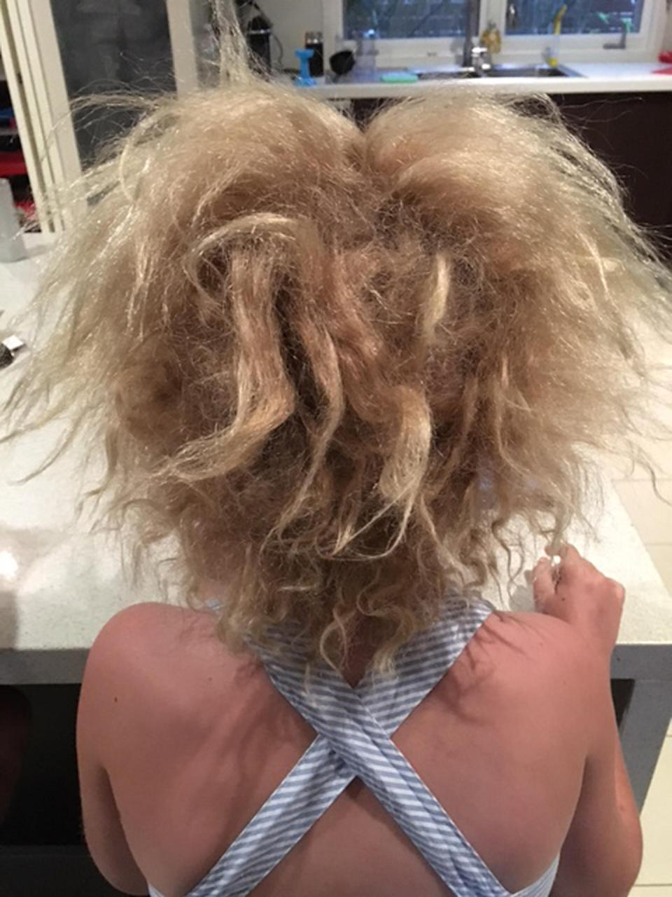 Shilah's hair is impossible to brush [Photo: Caters]