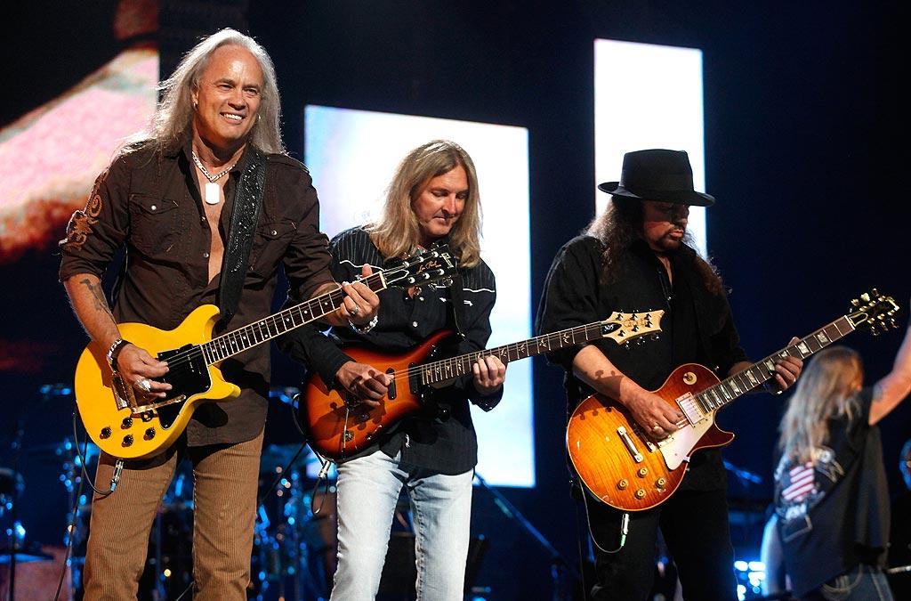 """Legendary '70s band Lynyrd Skynyrd rocked out to their southern anthem """"Sweet Home Alabama."""" Ed Rode/Nashville Rising/<a href=""""http://www.gettyimages.com/"""" target=""""new"""">GettyImages.com</a> - June 22, 2010"""