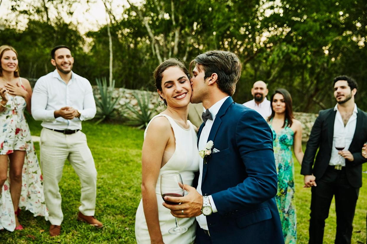 Micro weddings are on the rise. (Getty Images)