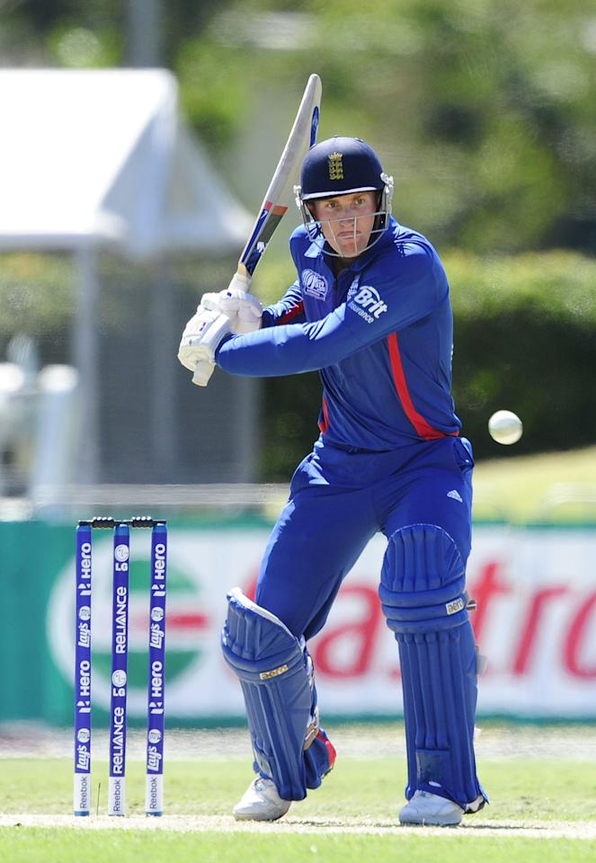 TOWNSVILLE, AUSTRALIA - AUGUST 11:  Adam Ball of England bats during the ICC U19 Cricket World Cup 2012 match between Australia and England at Tony Ireland Stadium on August 11, 2012 in Townsville, Australia.  (Photo by Ian Hitchcock-ICC/Getty Images)