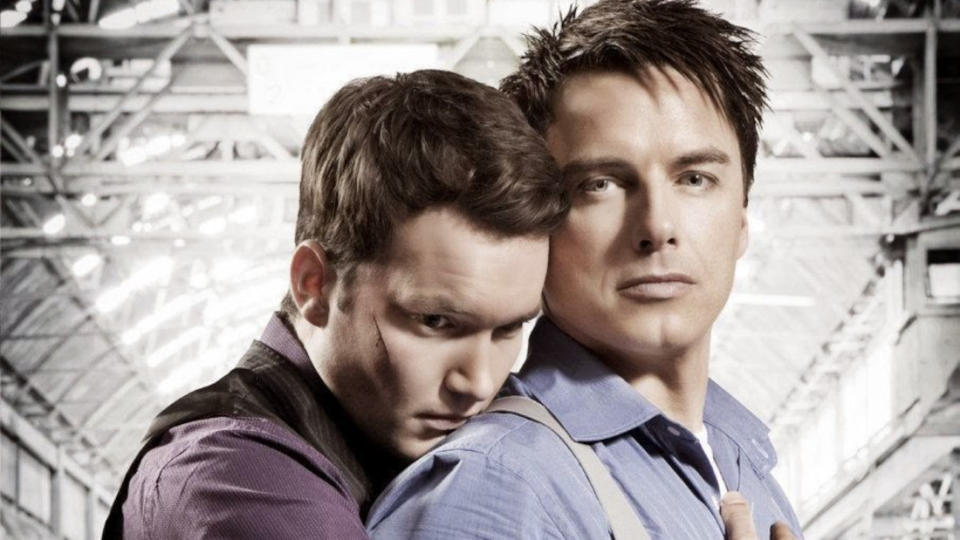 Captain Jack Harkness and Ianto Jones had a relationship which proved very popular with fans of 'Torchwood'. (BBC)