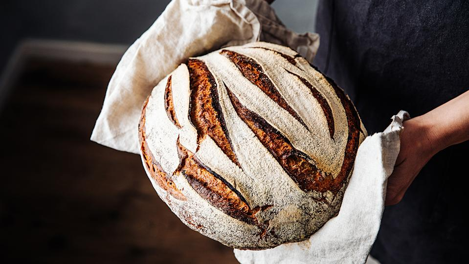 Lockdown favourite sourdough bread is a good choice if you're sensitive to gluten (Image: Getty Images)