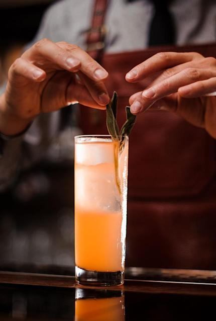 <p><strong>Ingredients</strong></p><p>1.5 oz Maker's Mark Bourbon<br>.25 oz Pallini Limoncello<br>Juice of 3 lemon wedges<br>1.5 tsp all-natural apricot jam<br>4 sage leaves<br>Soda water</p><p><strong>Instructions</strong></p><p>Pour all ingredients except soda into a shaker tin and muddle. Add ice and shake vigorously. Strain into a highball glass over fresh ice and top with soda water. Garnish with fresh sage and/or a twist.</p><p><em>By Kristine Lassor Hopkins of Abattoir<br></em></p>