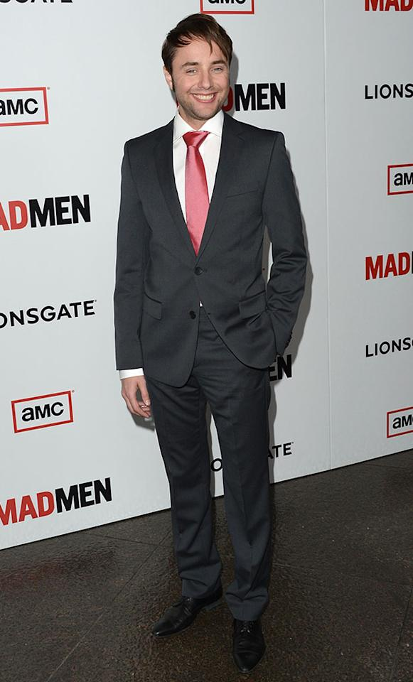 "Vincent Kartheiser arrives at the Premiere of AMC's ""Mad Men"" Season 6 at DGA Theater on March 20, 2013 in Los Angeles, California."