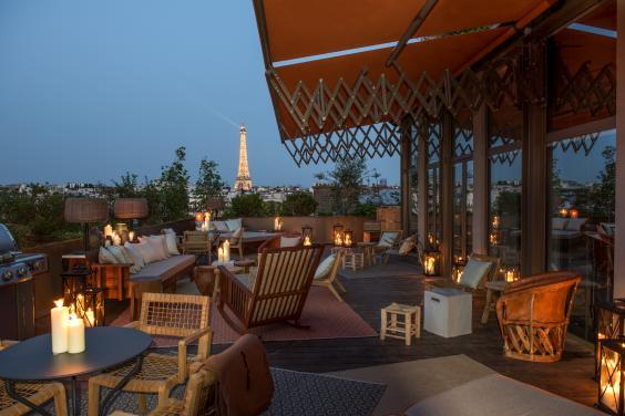 Soak up the superb views of the Eiffel Tower on the rooftop of Brach Paris (Brach Paris)