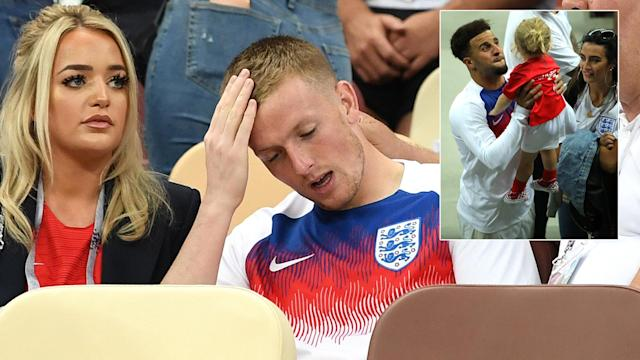 <p>There some smiles despite the real despair from England players after their World Cup exit. </p>
