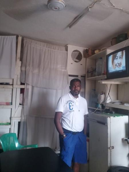 Takang, an inmate in Yaounde Central Prison takes selfie
