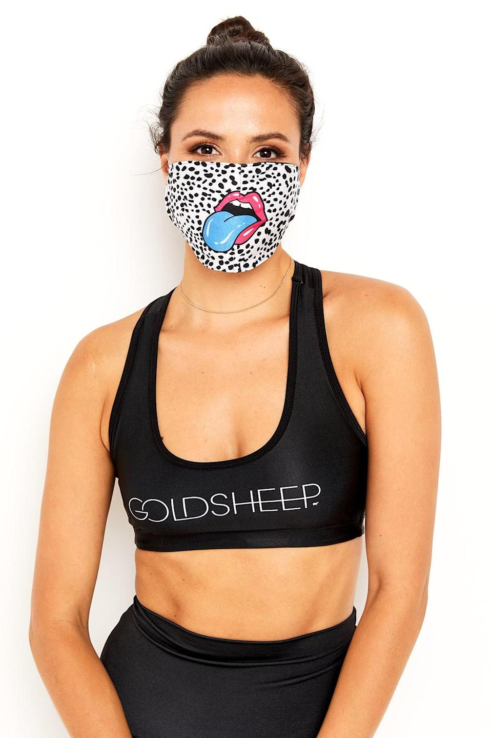 <p>With a fun design, you'll never forget putting this <span>Gold Sheep Clothing Face Mask</span> ($12) on when you go out in public.</p>