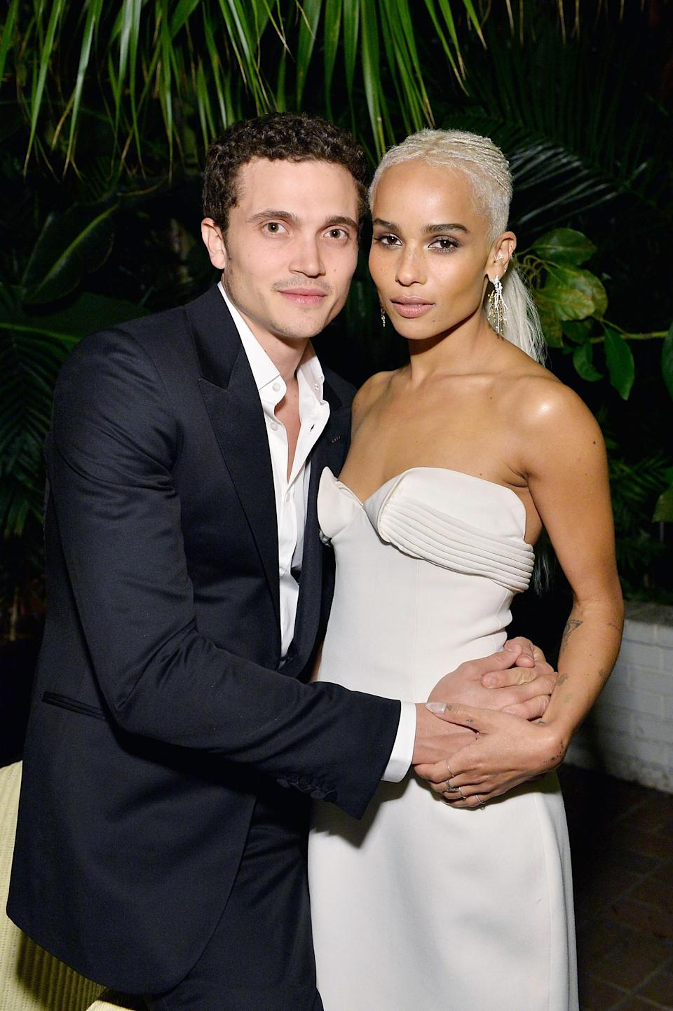 """After just over four years together and 18 months as a married couple, Zoë Kravitz and Karl Glusman have split, a rep confirmed to <a href=""""https://people.com/movies/zoe-kravitz-files-for-divorce-from-karl-glusman/"""" rel=""""nofollow noopener"""" target=""""_blank"""" data-ylk=""""slk:People"""" class=""""link rapid-noclick-resp""""><em>People</em></a>. According to court documents, Kravitz actually filed for divorce from Glusman on December 23, 2020, but the news didn't hit the public until January 2, 2021."""