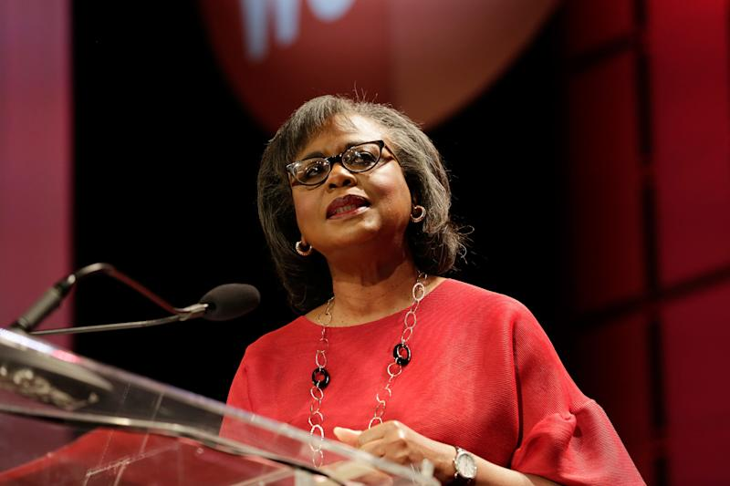 Anita Hill speaks at the Texas Conference For Women 2017 at the Austin Convention Center on Nov. 2, 2017, in Austin, Texas. (Marla Aufmuth via Getty Images)