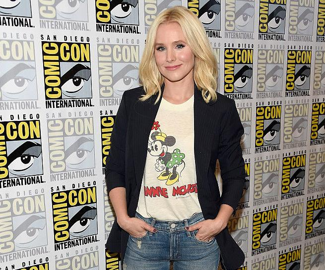 ea8f3e10ca8 Real-life Disney princess Kristen Bell just rocked a Minnie Mouse shirt in  a way only she can