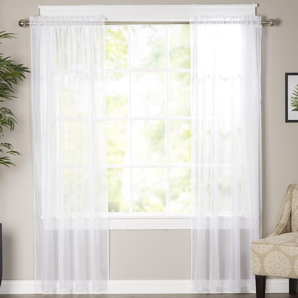 """<p>These <a href=""""https://www.popsugar.com/buy/Solid-Sheer-Curtain-Panels-567262?p_name=Solid%20Sheer%20Curtain%20Panels&retailer=wayfair.com&pid=567262&price=22&evar1=casa%3Aus&evar9=45784601&evar98=https%3A%2F%2Fwww.popsugar.com%2Fhome%2Fphoto-gallery%2F45784601%2Fimage%2F47575728%2FSolid-Sheer-Curtain-Panels&list1=shopping%2Cproducts%20under%20%2450%2Cdecor%20inspiration%2Caffordable%20shopping%2Chome%20shopping&prop13=api&pdata=1"""" class=""""link rapid-noclick-resp"""" rel=""""nofollow noopener"""" target=""""_blank"""" data-ylk=""""slk:Solid Sheer Curtain Panels"""">Solid Sheer Curtain Panels</a> ($22) are so chic and will let light into your room.</p>"""