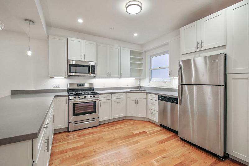 The kitchen of a converted one-bedroom at 3080 Jackson Street in San Francisco's Pacific Heights neighborhood. Source: Nina Hatvany