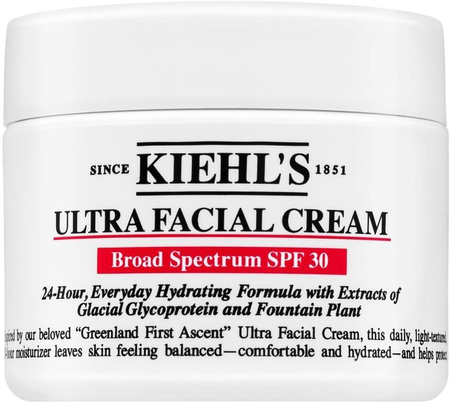 """<p>After using Kiehl's OG Ultra Cream, your cheeks will bounce with moisture. The <a href=""""https://www.popsugar.com/buy/Kiehl-Since-1851-Ultra-Facial-Cream-SPF-30-447903?p_name=Kiehl%27s%20Since%201851%20Ultra%20Facial%20Cream%20SPF%2030&retailer=ulta.com&pid=447903&price=30&evar1=bella%3Aus&evar9=46158385&evar98=https%3A%2F%2Fwww.popsugar.com%2Fbeauty%2Fphoto-gallery%2F46158385%2Fimage%2F46160840%2FKiehl-Since-1851-Ultra-Facial-Cream-SPF-30&list1=beauty%20products%2Cspf%2Csunscreen%2Cmoisturizer%2Csummer%20beauty%2Cface%20cream%2Cbeauty%20trends%2Cskin%20care&prop13=mobile&pdata=1"""" class=""""link rapid-noclick-resp"""" rel=""""nofollow noopener"""" target=""""_blank"""" data-ylk=""""slk:Kiehl's Since 1851 Ultra Facial Cream SPF 30"""">Kiehl's Since 1851 Ultra Facial Cream SPF 30</a> ($30) takes it one step further by protecting your skin from the sun.</p>"""