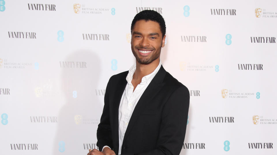 Regé-Jean Page attends the Vanity Fair EE Rising Star BAFTAs Pre Party on January 22, 2020. (Photo by Mike Marsland/WireImage)