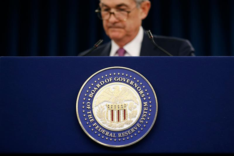 Federal Reserve Board Chair Jerome Powell speaks at a news conference following a two-day meeting of the Federal Open Market Committee, Wednesday, May 1, 2019, in Washington. (AP Photo/Patrick Semansky)