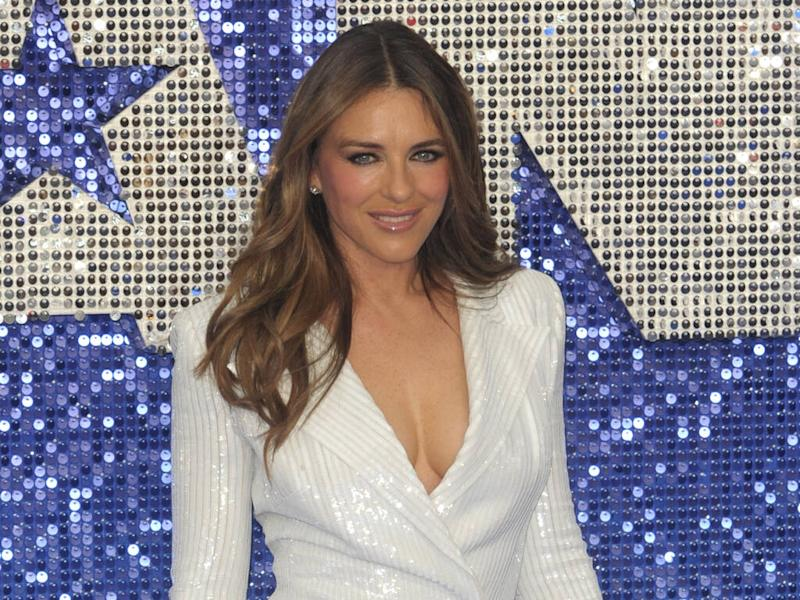 Elizabeth Hurley uses gardening as part of workout routine