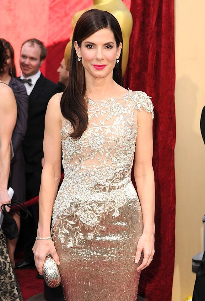 "Sandra Bullock, 46, is one of Hollywood's most beautiful people on the inside ... and out. Steve Granitz/<a href=""http://www.wireimage.com"" target=""new"">WireImage.com</a> - March 7, 2010"