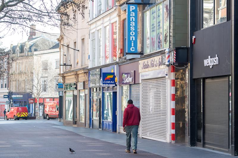 File photo dated 24/03/20 of the deserted High Street in Leicester. Labour is calling for more support for workers and businesses in areas with local restrictions in a bid to safeguard hundreds of thousands of jobs.