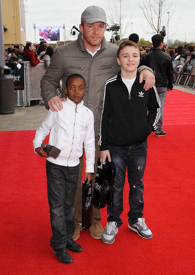 "What a cool dad! Madonna's ex, director Guy Ritchie, took their sons  David, who's about 7, and Rocco, 11, to the grand opening of the ""Making  of Harry Potter"" tour at Warner Bros. Studios in Watford, England.  (4/2/2012)"