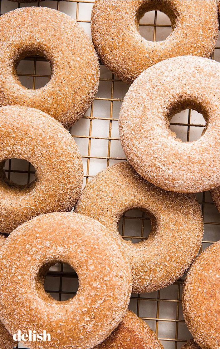 """<p>Dairy-free donuts that you'll drool over.</p><p>Get the recipe from <a href=""""https://www.delish.com/cooking/recipe-ideas/a25429705/vegan-donuts/"""" rel=""""nofollow noopener"""" target=""""_blank"""" data-ylk=""""slk:Delish"""" class=""""link rapid-noclick-resp"""">Delish</a>.</p>"""