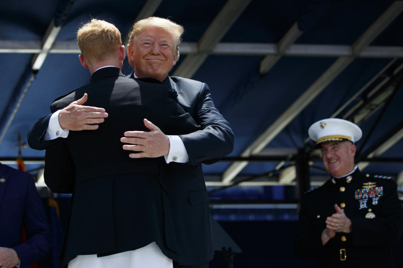 Trump tells Naval Academy graduates 'they are respecting us again'