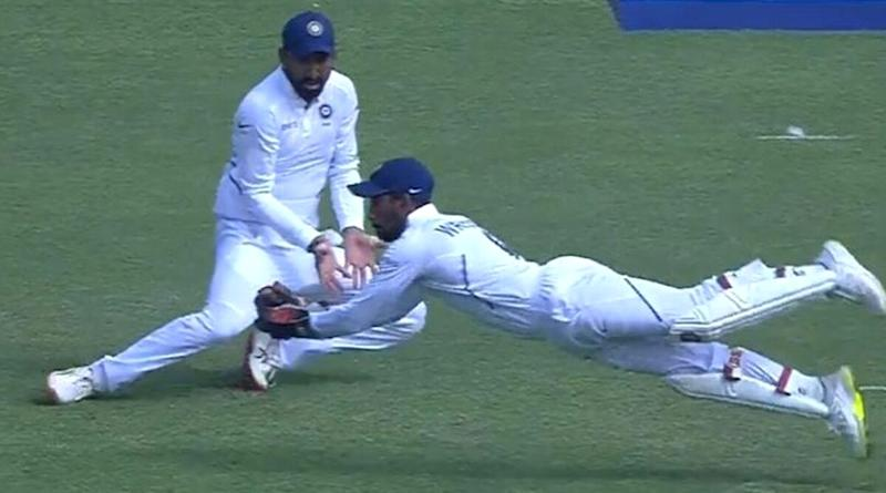 Wriddhiman Saha Takes Stunning Catch to Dismiss Theunis De Bruyn in IND vs SA 2nd Test 2019; Twitterati Praise Indian Wicket-Keeper's One-Handed Screamer