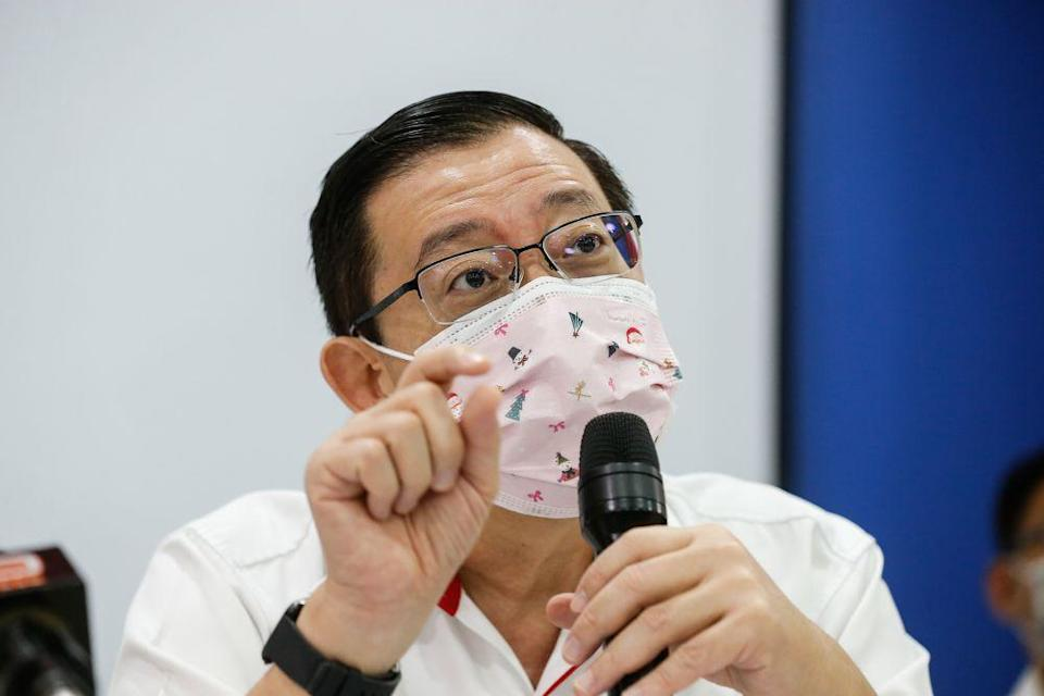 DAP's Lim Guan Eng  says lawmakers need to meet in order to draft and pass laws to address the public's concern and welfare as part of the country go into a second lockdown to combat Covid-19. — Picture by Sayuti Zainudin