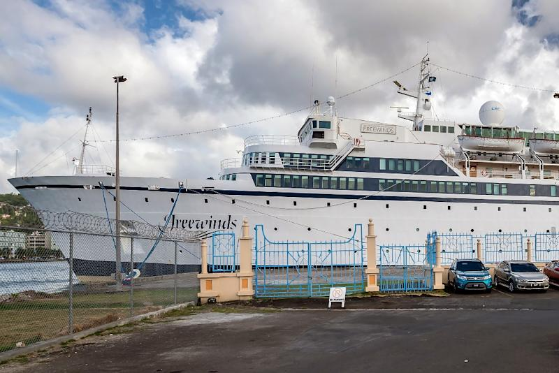 The Freewinds cruise ship owned by the Church of Scientology is used for religious retreats (AFP Photo/Kirk Elliott)