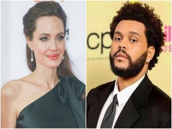 Angelina Jolie and The Weeknd (Image source: Instagram)
