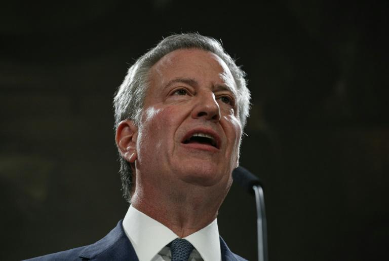 """New York Mayor Bill de Blasio said there is a growing """"crisis"""" of anti-Semitism in the United States (AFP Photo/KENA BETANCUR)"""