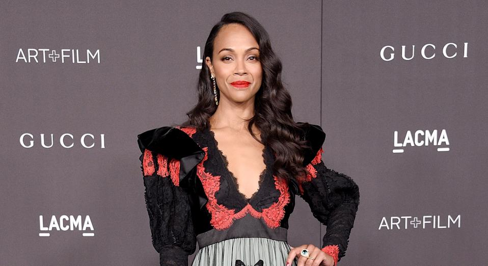 Zoe Saldana is one of a number of celebrity parents who are already home schooling due to coronavirus [Image: Getty]