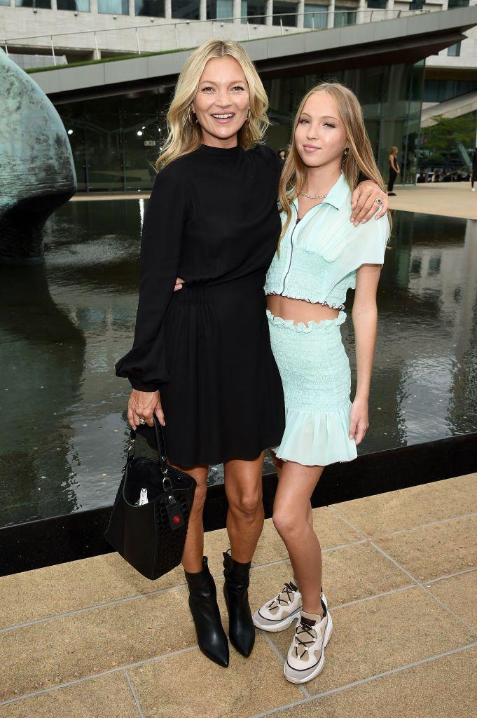 <p>When your mom is Kate Moss, you can attend any fashion show you want (we assume). The model's daughter, Lila, proved she can keep up with her mom, when the two attended New York City's Longchamp show in 2019. </p>