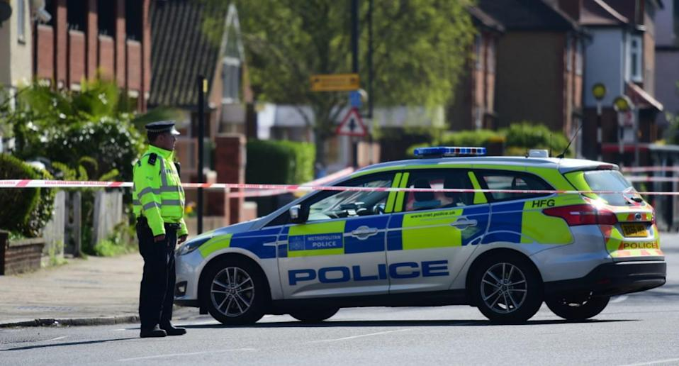 Police have launched a murder investigation after a shopworker was stabbed to death at a newsagent in Pinner on Sunday morning (PA)