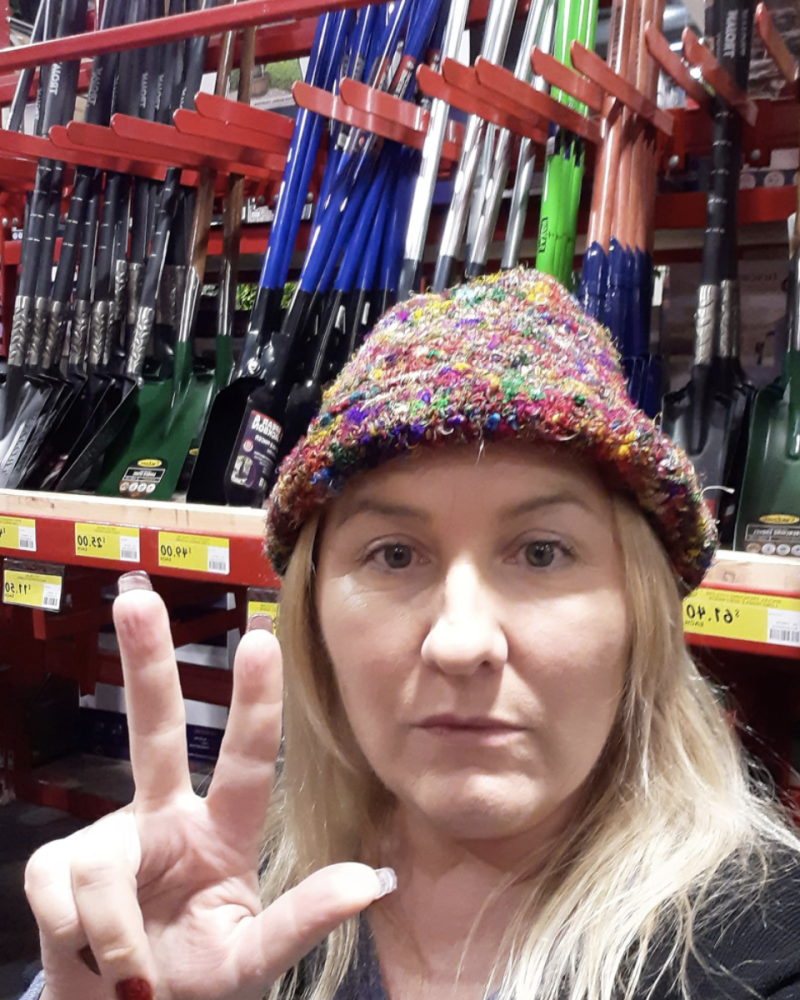 Pictured is Lizzy Rose in the Bunnings Warehouse. Source: Facebook
