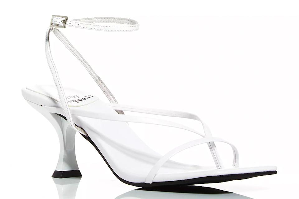 jeffrey campbell, white sandals, big toe, loop, sandals