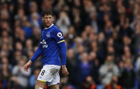 Everton's Ross Barkley walks off to be substituted