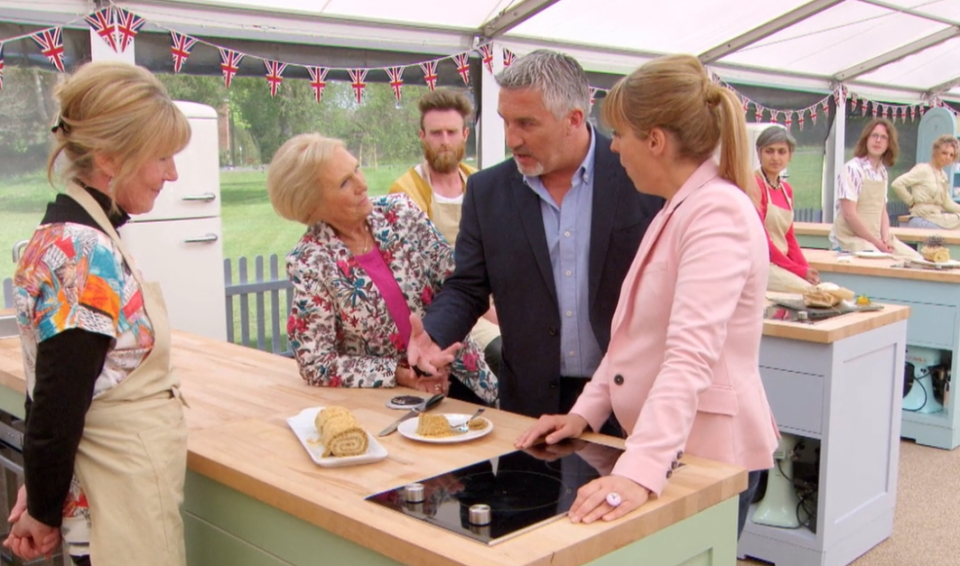 "<p>There is no feel-good reality show quite like <em>The Great British Bake Off</em>. Watch as amateur contestants crack jokes and will their pastries to bake to perfection. From Mel and Sue's cheeky humor to Mary Berry's delight at the mention of rum, this competition feels less cutthroat and more comforting than anything else.</p><p><strong>How to Watch:</strong> <em>The Great British Baking Show</em>, as it is known in the States, is available on <a href=""https://www.netflix.com/title/80063224"" rel=""nofollow noopener"" target=""_blank"" data-ylk=""slk:Netflix"" class=""link rapid-noclick-resp"">Netflix</a>.</p>"