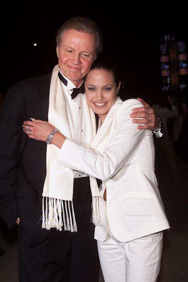 Jolie and her father Jon Voight attended the Vanity Fair Oscar Party together following the 73rd Academy Awards in 2001. Later that year, the actress stopped speaking to Voight and the two did not reconcile until 2009.