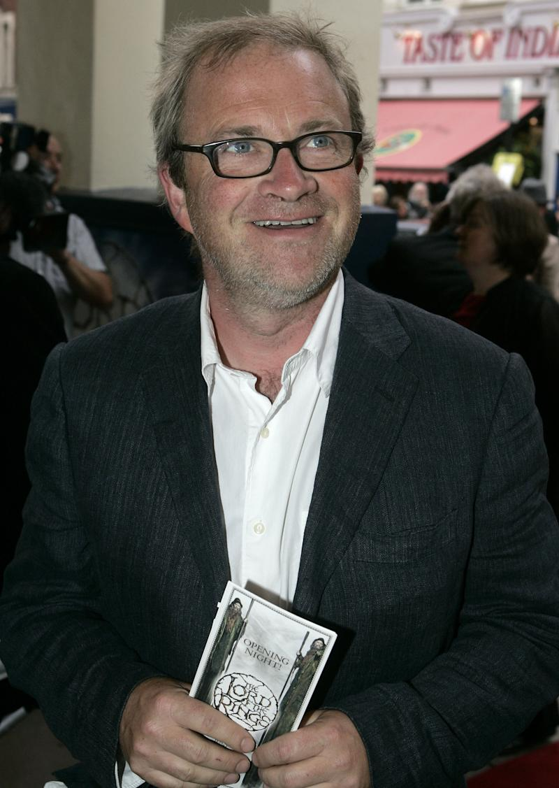 Comedian Harry Enfield arrives for the opening night of the musical Lord of the Rings at the Theatre Royal in London, Tuesday June 19, 2007. The West End production of Tolkien's tale of middle earth is the most expensive musical ever staged in London. (AP Photo/Kirsty Wigglesworth)