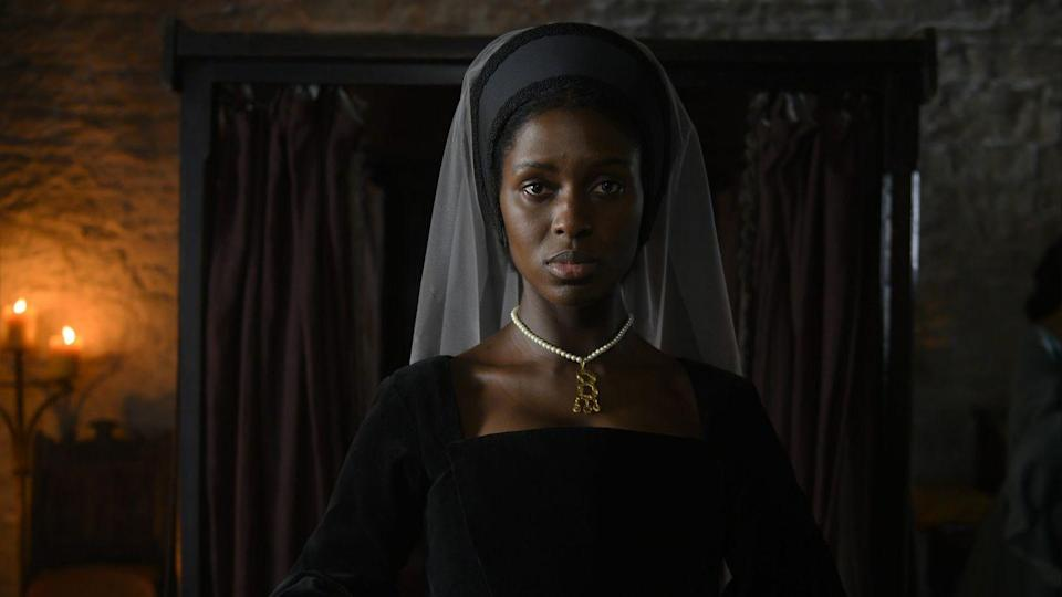 <p>Jodie plays the ill-fated Anne Boleyn herself as she grapples with her marriage and her place in the monarchy.</p><p><strong>What has Jodie Turner-Smith starred in before?</strong></p><p>While Jodie made her acting debut as a siren in True Blood in 2013, she's better known for starring alongside Daniel Kaluuya in the 2019 film Queen and Slim. </p><p>More recently she's starred alongside Michael B. Jordan in Without Remorse. Mega-fans will also remember her cameo in Zayn Malik's music video for Pillowtalk. </p>