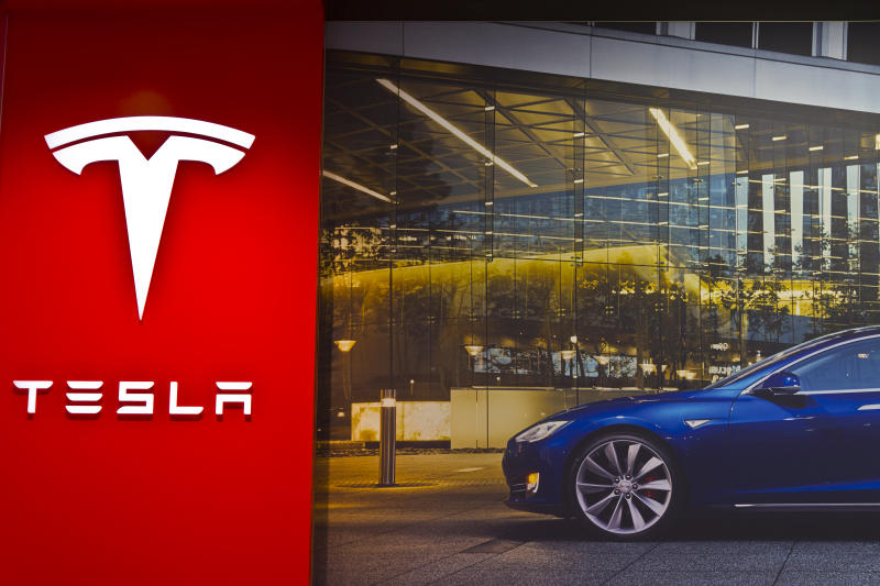Indianapolis, US - March 29, 2016: Tesla Motors Store in Indianapolis Selling Electric Cars III